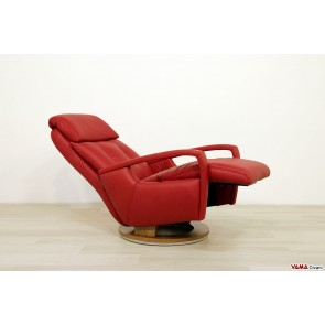 Armchair modern manual relax with wooden swivel