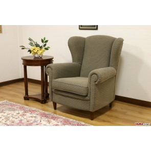 Bergere chair classic fabric with mumps
