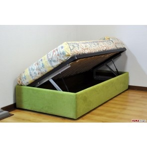 box spring bed single container with side opening