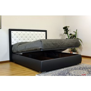 Contemporary storage bed in black and white colours
