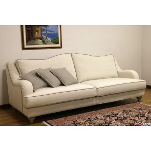Cream sofa with removable fabric