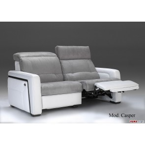 Electric Reclining sofa in microfibre