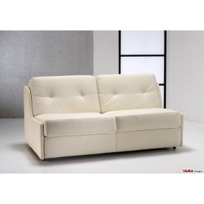 Leather sofa bed without arms
