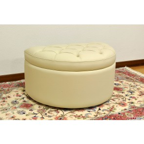 Semi-circular footstool with storage box