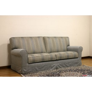 Sofa with removable classic striped fabric