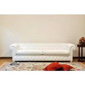 White Chesterfield sofa