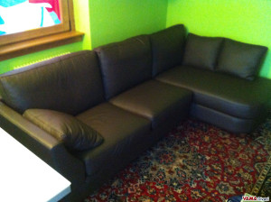 The custom-made sofa is very nice and comfortable